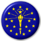 Indiana State Flag 25mm Pin Button Badge